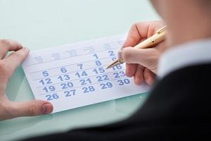 Количество дней отпуска с праздничными днями