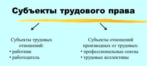 Субъекты ТП